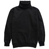 [다소울]DASOUL -기모- 헤스티아 목폴라 맨투맨 - 검정 크루넥 스��셔츠
