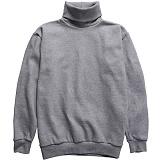 [다소울]DASOUL -기모- 헤스티아 목폴라 맨투맨 - 회색 크루넥 스��셔츠