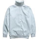 [다소울]DASOUL -기모- 헤스티아 목폴라 맨투맨 - 흰색 크루넥 스��셔츠