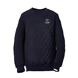 AROUND 80 - Quilting sweat shirt_navy 퀼팅 맨투맨