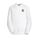 AROUND 80 - Quiting sweat shirt_white 퀼팅 맨투맨