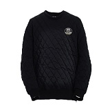 AROUND 80 - Quilting sweat shirt_black 퀼팅 맨투맨
