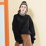 [버닝]Burning Circle Fleece Sweatshirt (Black) 서클 플리스 스��셔츠 크루넥 맨투맨