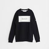 [블랙후디]BLACKHOODY 16 SS BASIC LOGO CREWNECK SWEATSHIRT BLACK 베이직 로고 크루넥 스��셔츠 맨투맨