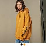 [어커버]ACOVER - [기모] Chest ACOVER Tumble Hood T-Shirt 후드 후드티 후드티셔츠