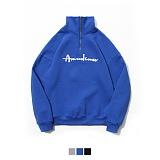 [3월31일예약배송][어커버]ACOVER - Half Zip Up Sweatshirt 하프집업 맨투맨 크루넥 스��셔츠