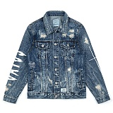 STIGMA - FOX WASHED DENIM TRUCKER JACKET 청자켓 데님