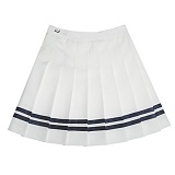 [비에이블투]BABLETWO [WOMAN] Line Tennis Skirt (NAVY) 라인 테니스 스커트
