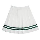 [비에이블투]BABLETWO [WOMAN] Line Tennis Skirt (GREEN)  라인 테니스 스커트