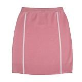 [비에이블투]BABLETWO [WOMAN] Side Line Knit Skirt (PINK) 사이드 라인 니트 스커트
