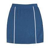 [비에이블투]BABLETWO [WOMAN] Side Line Knit Skirt (BLUE) 사이드 라인 니트 스커트