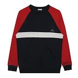 [비에이블투]BABLETWO [UNISEX] Raglan Sweatshirts (NAVY) 래글랜 스��셔츠 크루넥 맨투맨