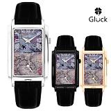 [GLUCK] 글륵 세계지도 듀얼타임 손목시계 VG503 시리즈