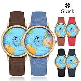 [Gluck] 글륵 세계지도 손목시계 지도시계 MW76 시리즈