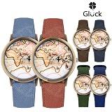 [Gluck] 글륵 세계지도 손목시계 지도시계 MW73 시리즈