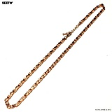 SEXTO - [써지컬스틸]W-014 chain necklace ROSE GOLD 목걸이