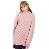 [베테제]veteze - Oversize Heavy Pola Kint(PK) 헤비게이지 니트 스웨터 핑크
