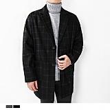 [디커스텀]DICUSTON 디커스텀2컬러 고방체크 오버핏 코트