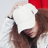 [비에이블투]BABLETWO Signature Leather Ball Cap (WHITE) 시그니쳐 레더 볼캡 야구모자