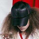 [비에이블투]BABLETWO Signature Leather Ball Cap (BLACK) 시그니쳐 레더 볼캡 야구모자