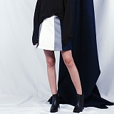 [비에이블투]BABLETWO Coloration Skirt (NAVY) 스커트