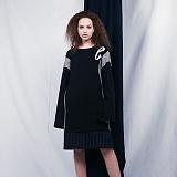 [비에이블투]BABLETWO Layered Coloration Dress (NAVY) 레이어드 드레스 원피스