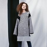 [비에이블투]BABLETWO Layered Coloration Dress (GRAY) 레이어드 드레스 원피스