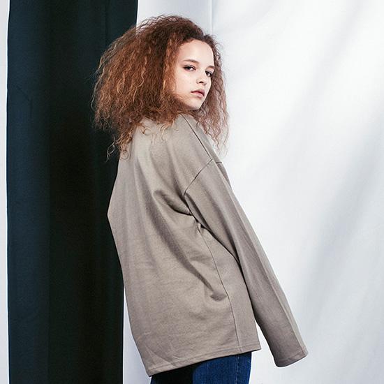 [비에이블투]BABLETWO Long Sleeve T-shirts (KHAKI) 롱슬리브 긴팔티