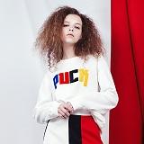 [비에이블투]BABLETWO PUCK Sweat Shirts (WHITE) 퍽 스��셔츠 크루넥 맨투맨