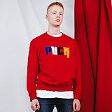 [비에이블투]BABLETWO PUCK Sweat Shirts (RED) 퍽 스��셔츠 크루넥 맨투맨
