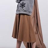 [비에이블투]BABLETWO Poket Detail Long Skirt (CAMEL) 포켓 디테일 롱스커트