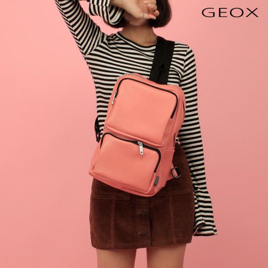 [제옥스]GEOX - BLOCK BAG 블록 백팩 & 메신져백 PINK 슬링백