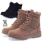 [에이벨류]509-panama 남성 누벅 사막화 부츠-6cm(블랙.베이지) 남자 파나마 워커 하이탑  신발 슈즈