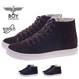 [보이런던]530bl-tomson 남성 캐주얼 방한 털 하이탑 스니커즈-3cm(브라운) 남자 톰슨 신발 캐주얼 방한화
