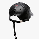 [피스메이커]PIECE MAKER - TD LEATHER STRAP CAP (BLACK)가죽 스트랩 볼캡