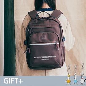 [단독판매][에이지그레이]AGEDGRAY - AG13FBR SCHOOL ROAD 초코 브라운 스쿨로드 빅 백팩 학생백팩 메쉬백팩 망사백팩