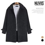 [뉴비스] NUVIIS - 코듀로이 무스탕 롱코트 (RG015CT)
