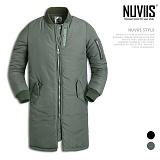 [뉴비스] NUVIIS - 투포켓 롱 야상 패딩점퍼 (DB015PD)