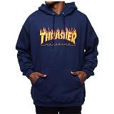 [트래셔] THRASHER FLAME LOGO 플래임 불꽃 로고 후드티셔츠 / 113102-NAVY