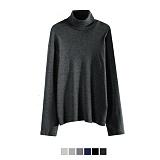 [어커버]ACOVER - Turtleneck T-Shirt 롱슬리브 터틀넥 목폴라 니트 니트티