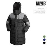 [뉴비스] NUVIIS - 오리털 배색롱 패딩점퍼 (NB142PD)