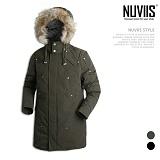 [뉴비스] NUVIIS - 라쿤 롱 패딩점퍼 (KT017PD)