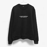 [레이쿠] reiku original evp crewneck-k black 기모 맨투맨 크루넥 스��셔츠