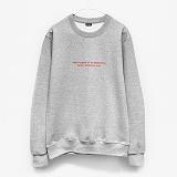 [레이쿠] reiku original evp crewneck-k r-gray 기모 맨투맨 크루넥 스��셔츠