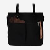 [단독판매][모노노] MONONO - 6 Pocket 3 Way Bag Wax Canvas Black 캔버스 숄더백 토트백