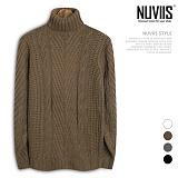 [뉴비스] NUVIIS - 양꼬임 터틀 폴라니트 (DS112KN)