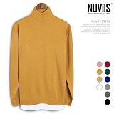 [뉴비스] NUVIIS - 레이어드 오버핏 반목폴라니트 (DS110KN) 목넥