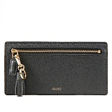 [루버킨] Tassel Grain Leather Wallet - Black