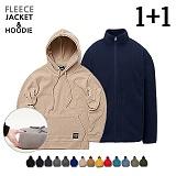 ★1+1★[LOROPOP]로로팝 WARM COMFORT FLEECE 후리스 자켓+후드 (11컬러)
