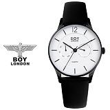 보이런던시계 BLD5106-블랙 남성 가죽 손목시계